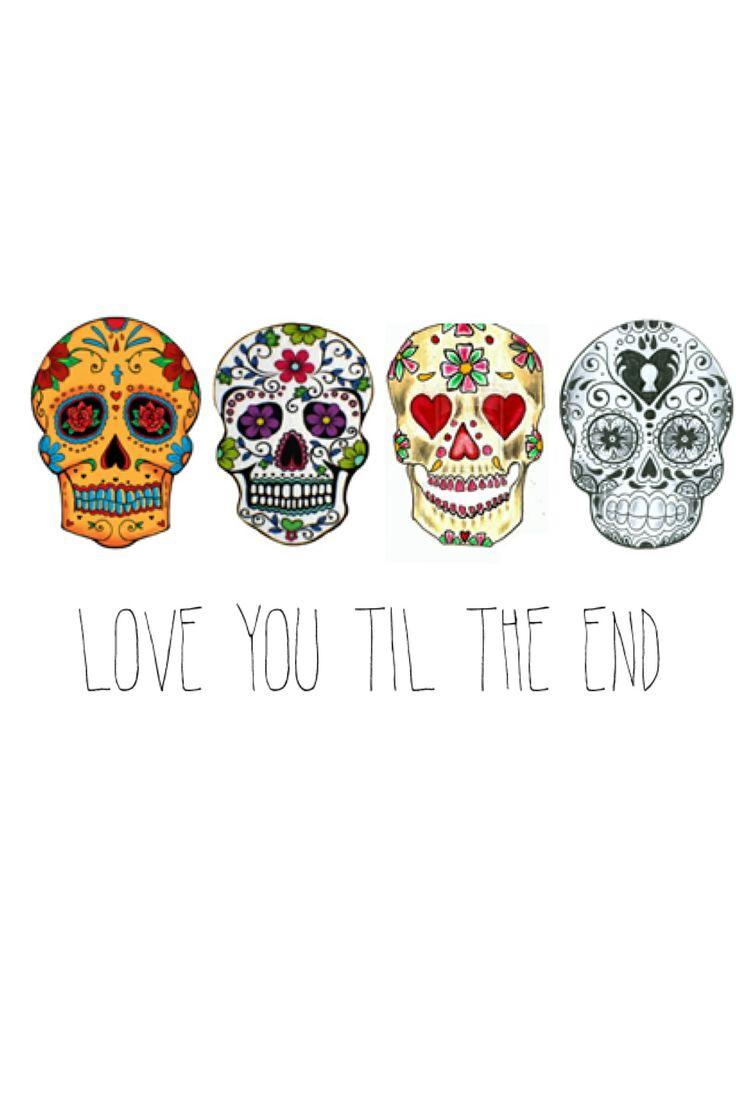 iPhone 5 wallpapers   sugar skulls Beautiful Words Pinterest 736x1104