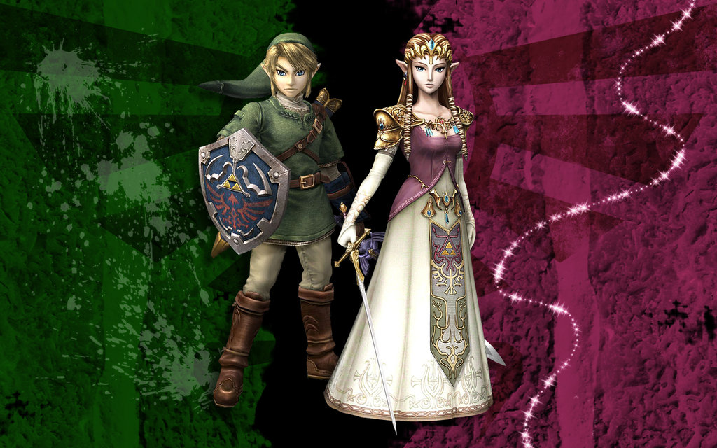 Princess Zelda and Link Wallpaper by Miharichu Emi 1024x640