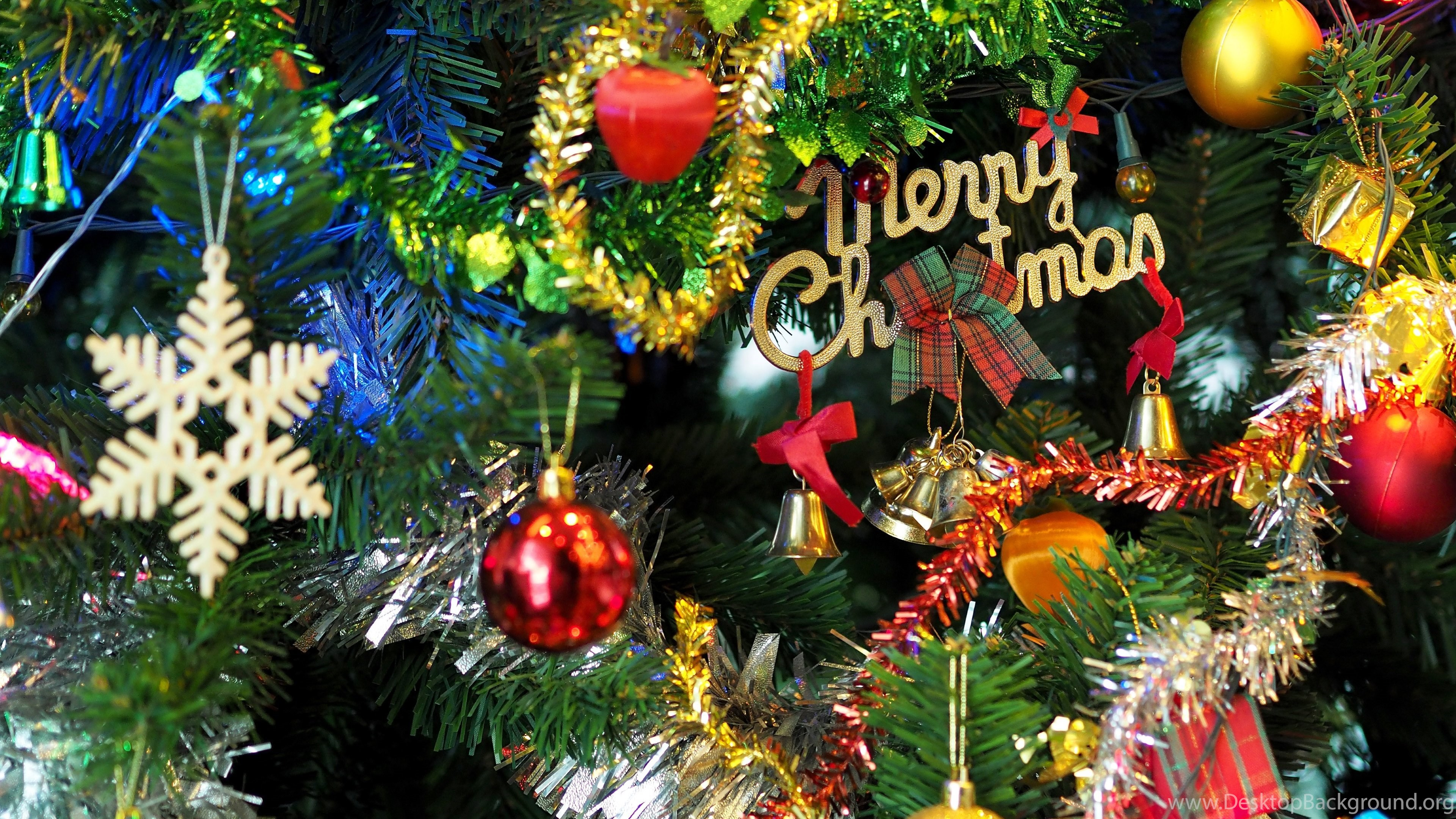 Merry Christmas Christmas Bells HD Wallpapers 4K Wallpapers 3840x2160