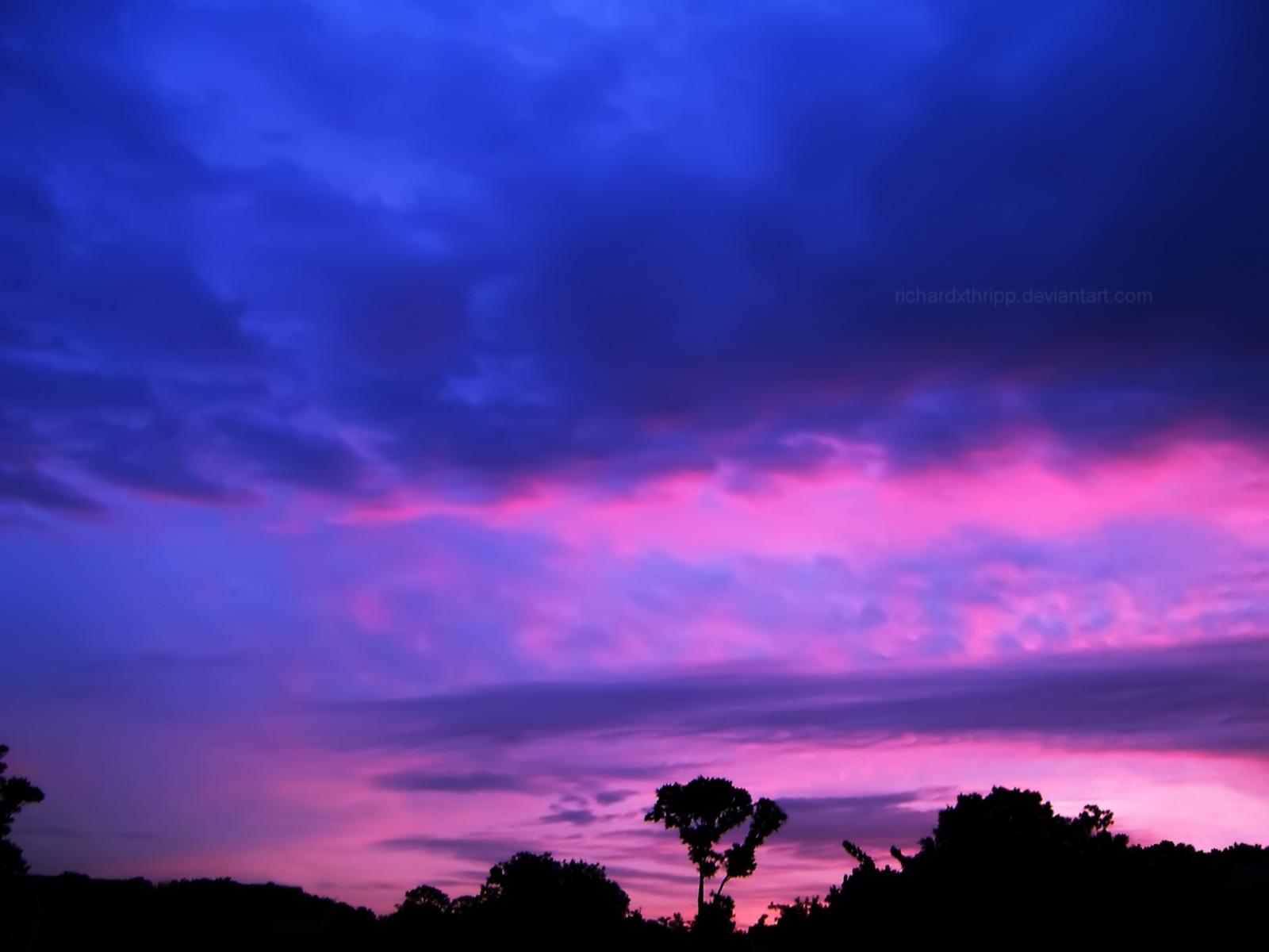 Pink and Purple Sunset 3 WP by richardxthripp 1600x1200