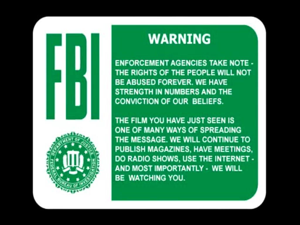 Fbi Warning Logofbi Warning Loss Of Privacy Awmtfmil GamesHD 1024x768