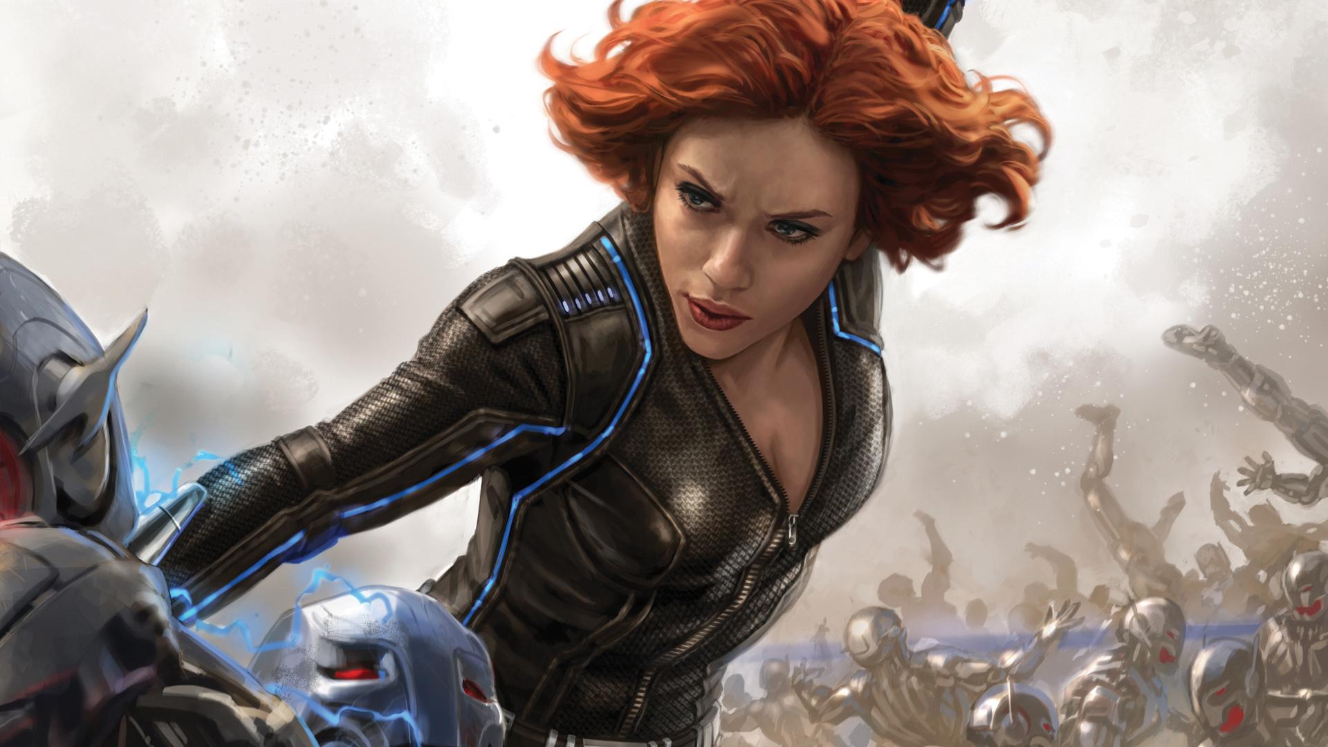 65+ Scarlett Johansson Black Widow Wallpaper on ...