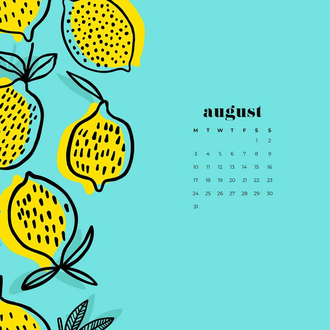 FREE August wallpapers 14 to choose from for desktop and phone 1135x1135