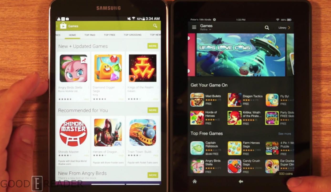 Amazon Kindle Fire HDX 7 vs Samsung 4 Nook 1388x808