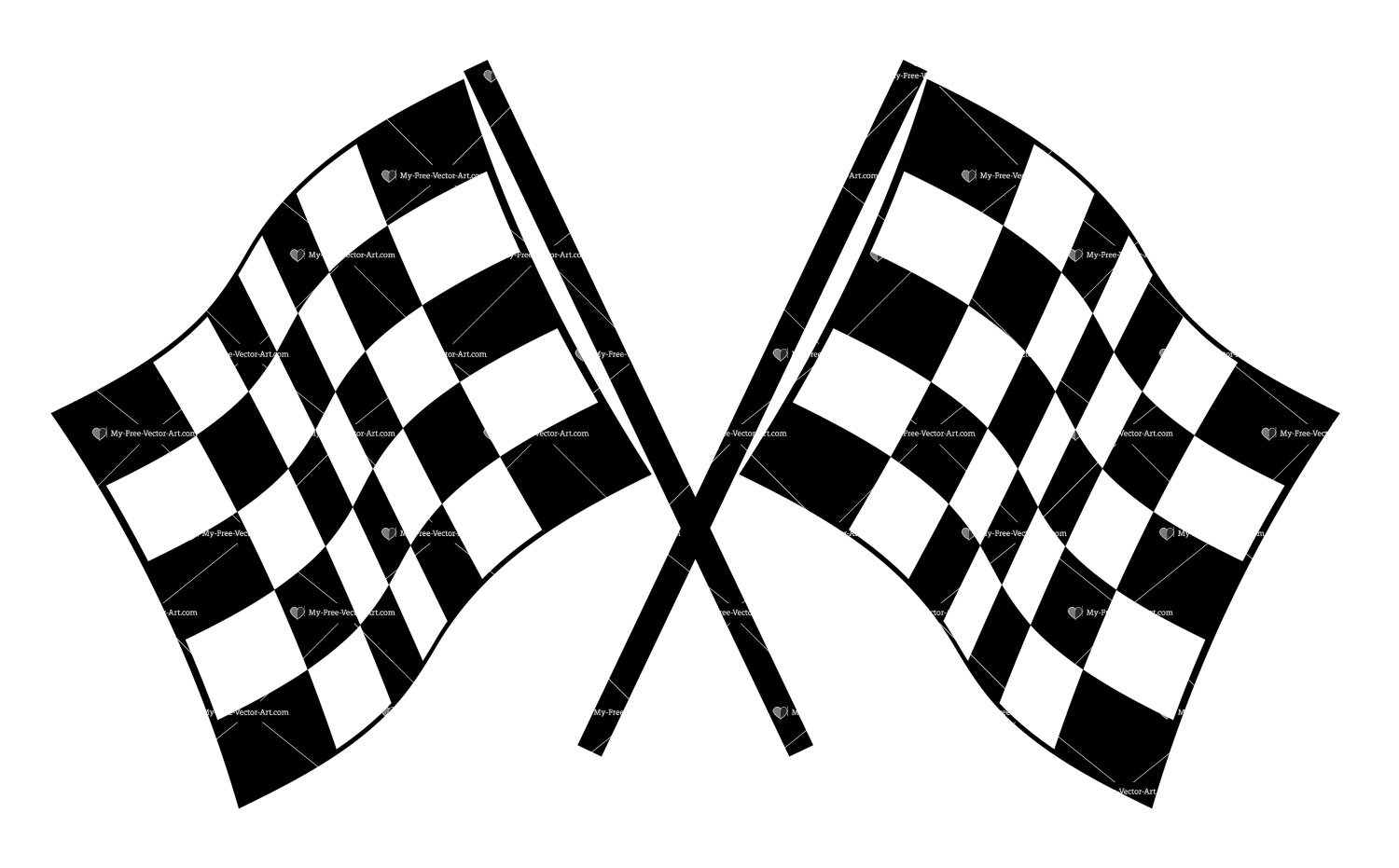 Checkered Flags Vector illustrations of checkered flags ready to 1500x931