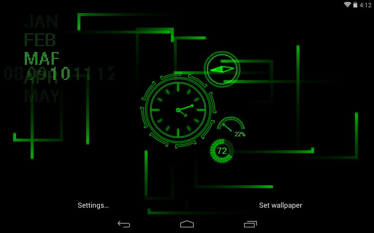Real Time Clock Wallpaper Wallpapersafari