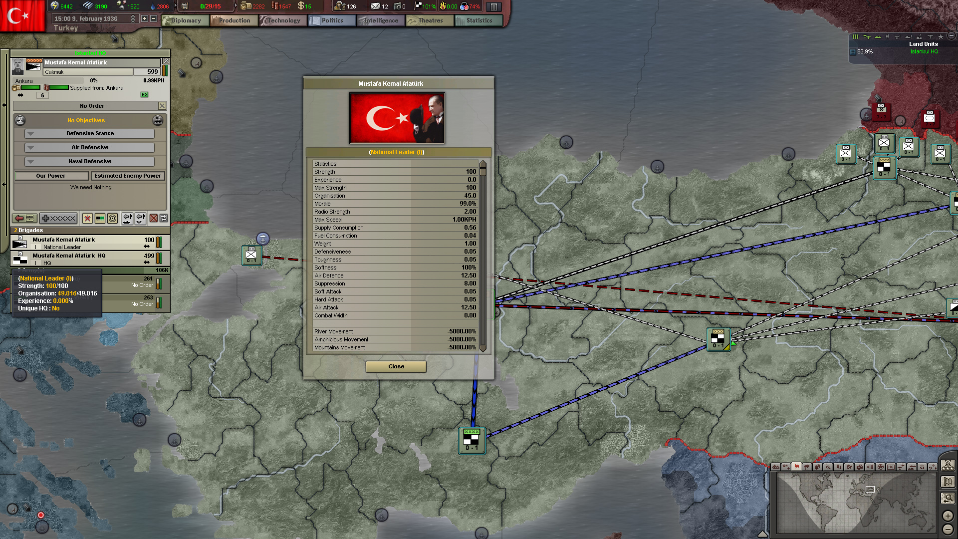 Turkish Leader Unit image   Black ICE Mod for Hearts of Iron III 1920x1080