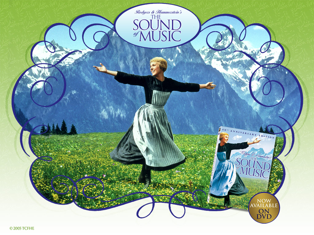 40th Anniversary Wallpaper   The Sound of Music Wallpaper 417478 1024x768