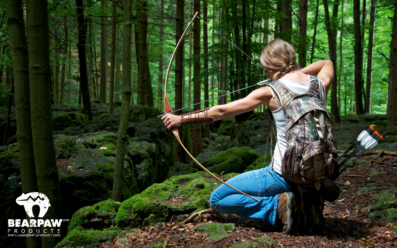 Hintergrundbild Outdoor Archery Girl Seitenverhltnis 1610 2880x1800