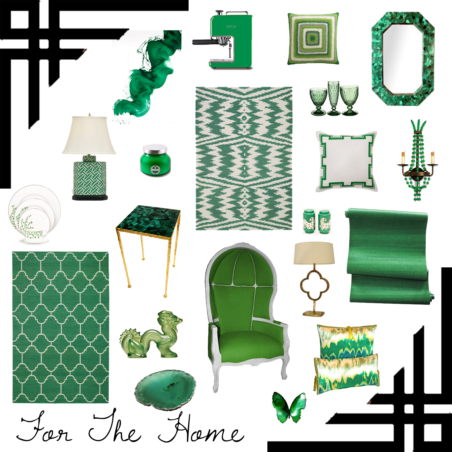 Trend Alert Grasscloth Wallpaper: Emerald Green Grasscloth Wallpaper