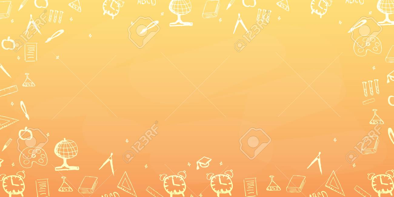 Back To School Background Education Banner Royalty Cliparts 1300x650