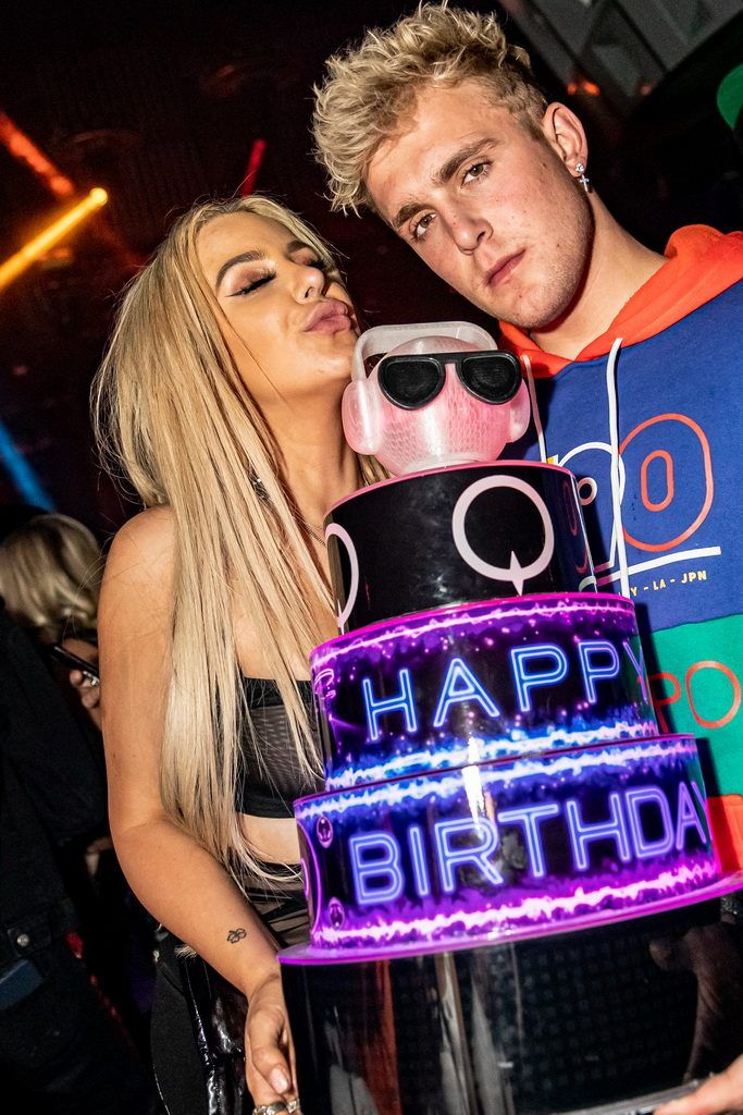 Jake Paul Tana Mongeau celebrate at TAO Marquee in Vegas With 683x1024