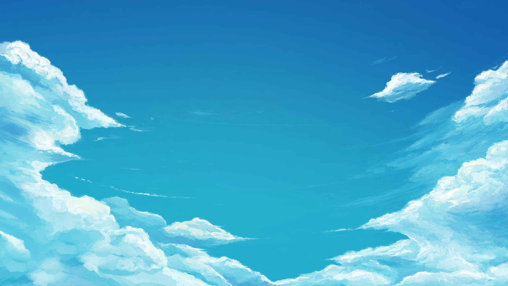 88 Anime Sky Wallpapers On Wallpapersafari