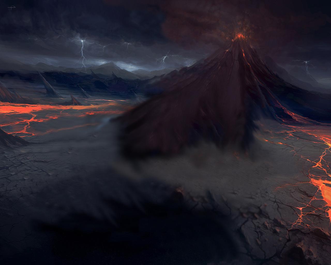 Volcano Wallpaper HD Wallpapers 1280x1024