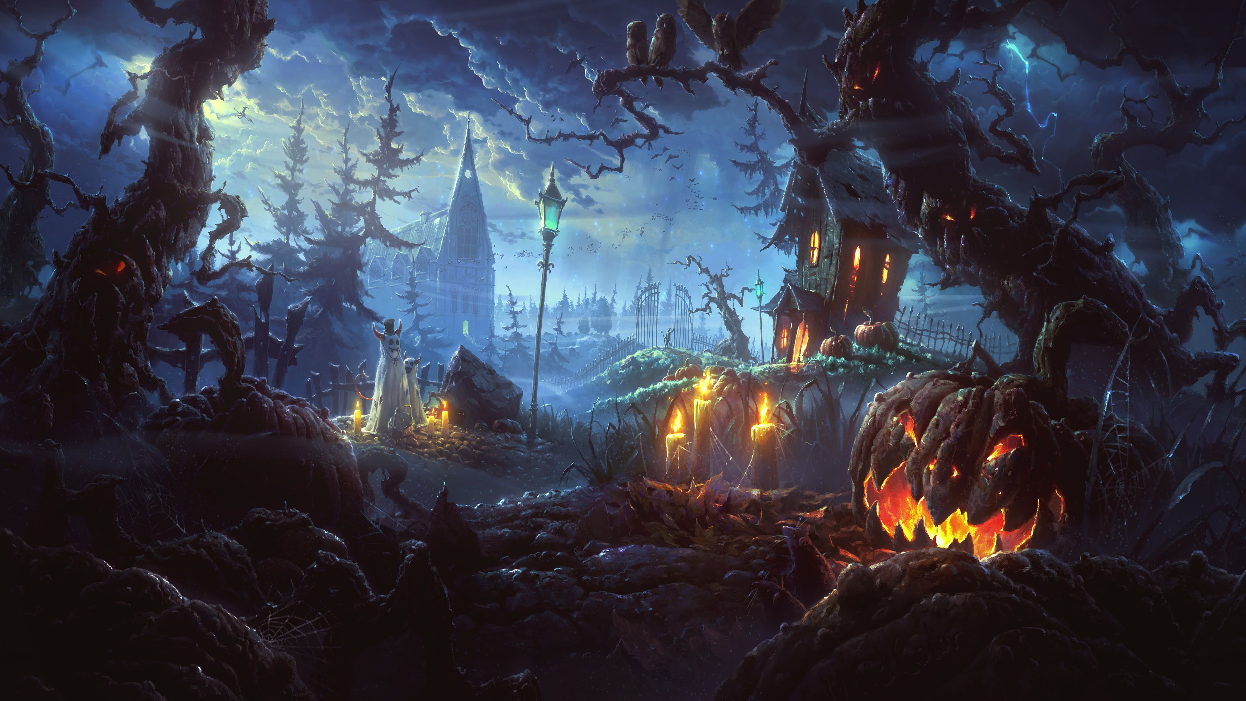 Halloween wallpapers computer desktop hd wallpapers 4000x2250