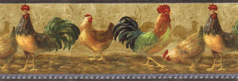 Details about KITCHEN COUNTRY CHICKENHEN wallpaper border TH29001B 770x262