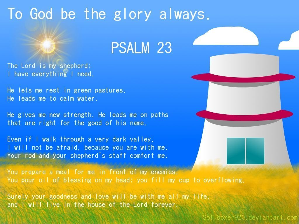 Psalm 23 Wallpapers 1024x768