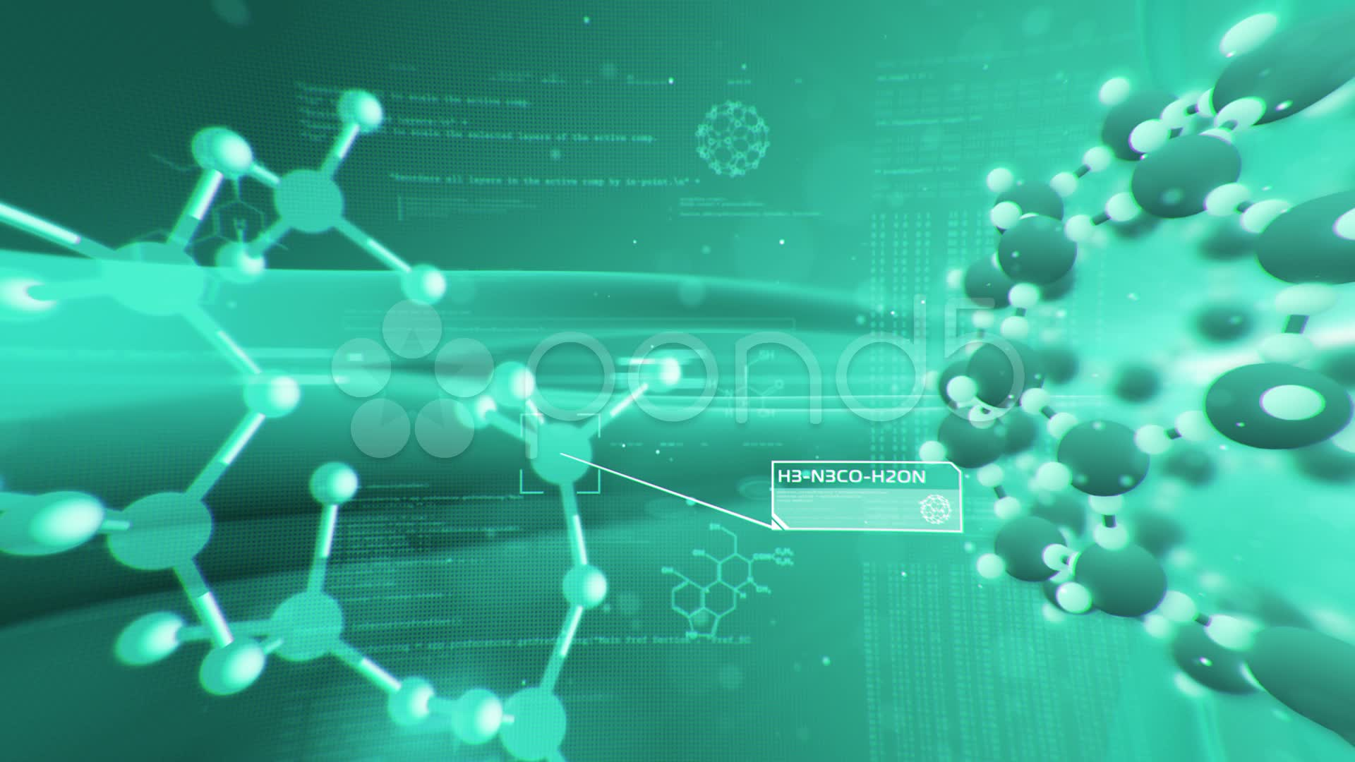 Science Background Molecular Structure Chemical Biology Stock Video 1920x1080