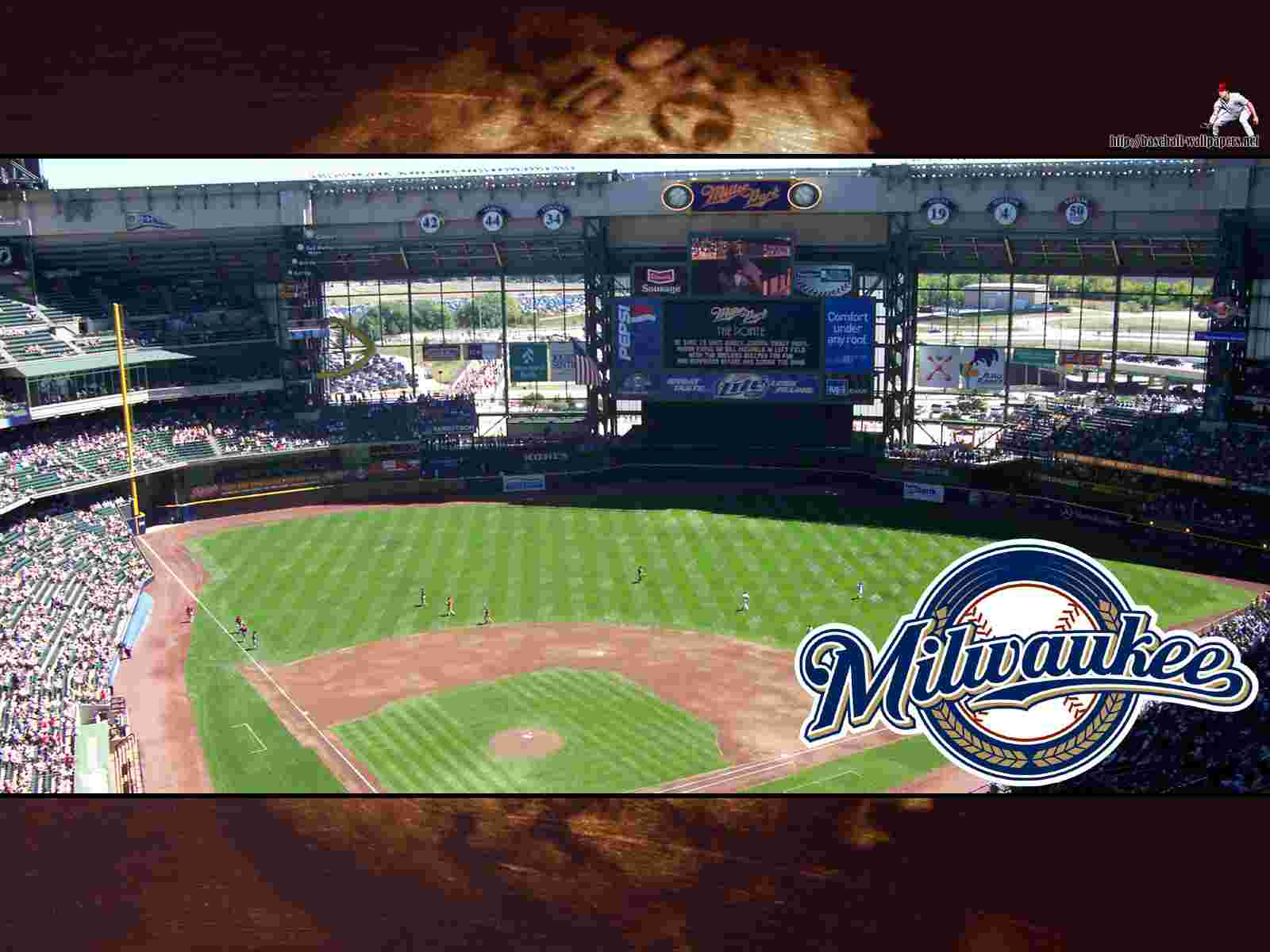 park wallpaper baseball park miller park hd wallpaper miller park 1600x1200