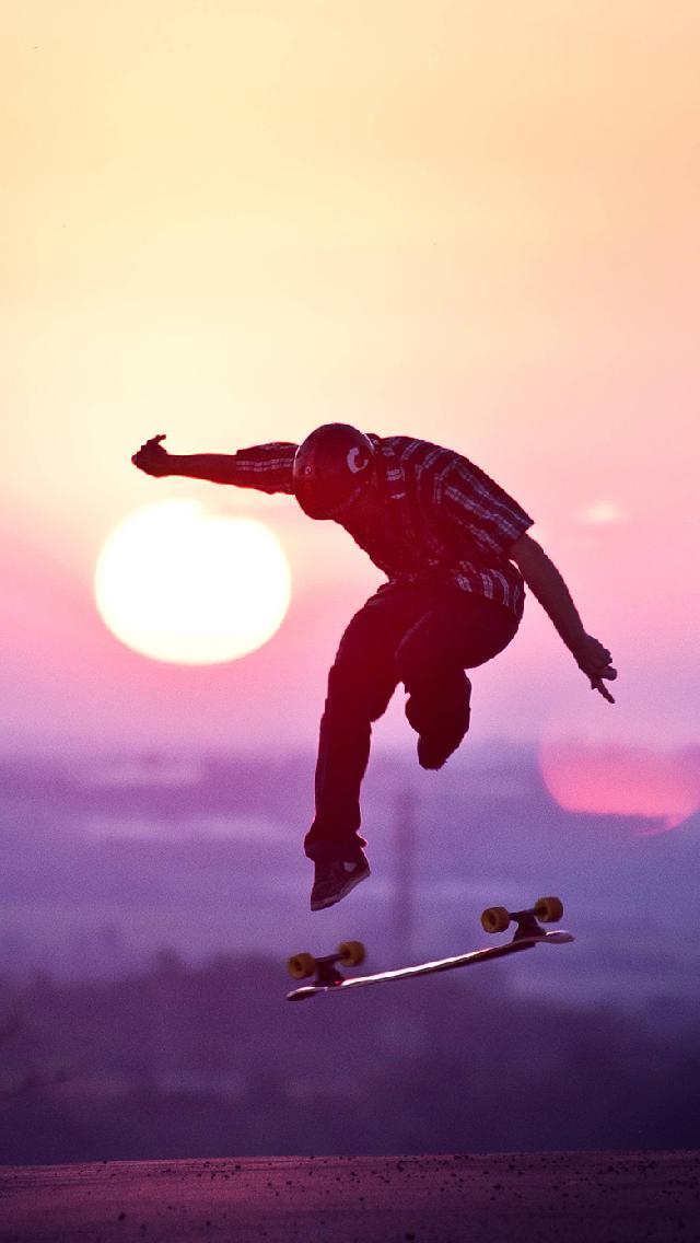 Skateboard iphone wallpaper wallpapersafari - Skateboard mobel ...