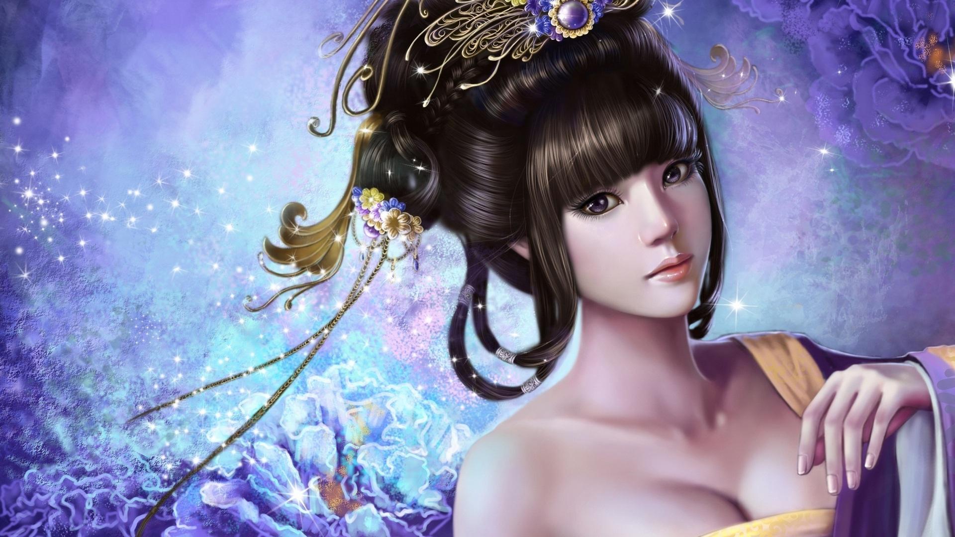Beautiful anime girls 1920x1080
