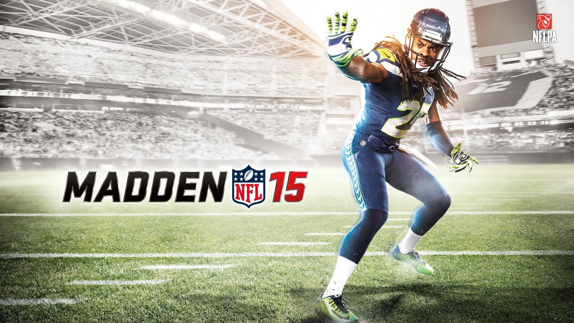 Richard Sherman Seattle Seahawks Madden NFL 2015 Game Cover Wallpaper 1920x1080