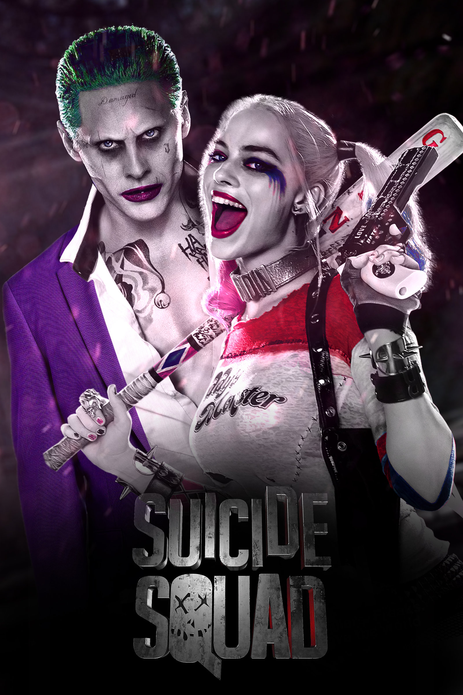 Suicide Squad   Joker and Harley Quinn by jhonaphone 1600x2400