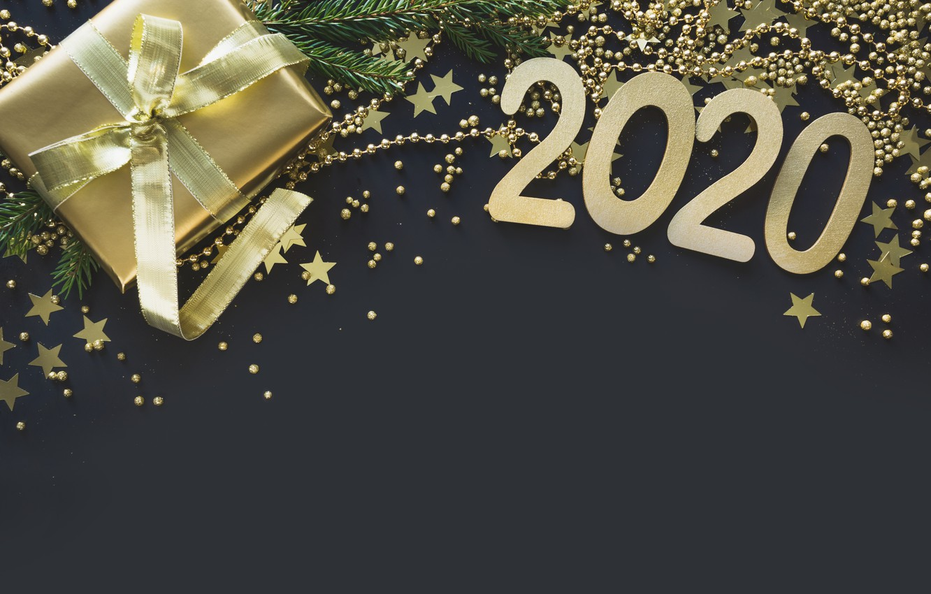 Wallpaper holiday gift new year stars 2020 images for desktop 1332x850