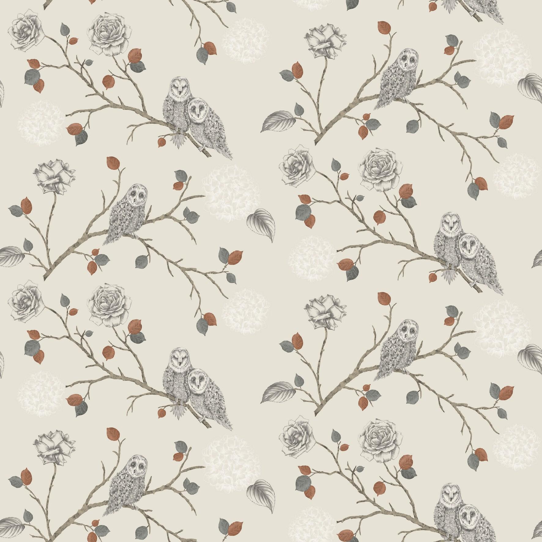 Shop Enchantment Range Night Owl Night Owl Copper Wallpaper 1772x1772