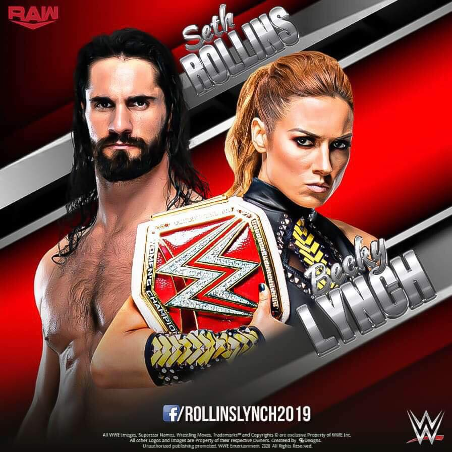 Seth Rollins and Becky Lynch   Home Facebook 896x896