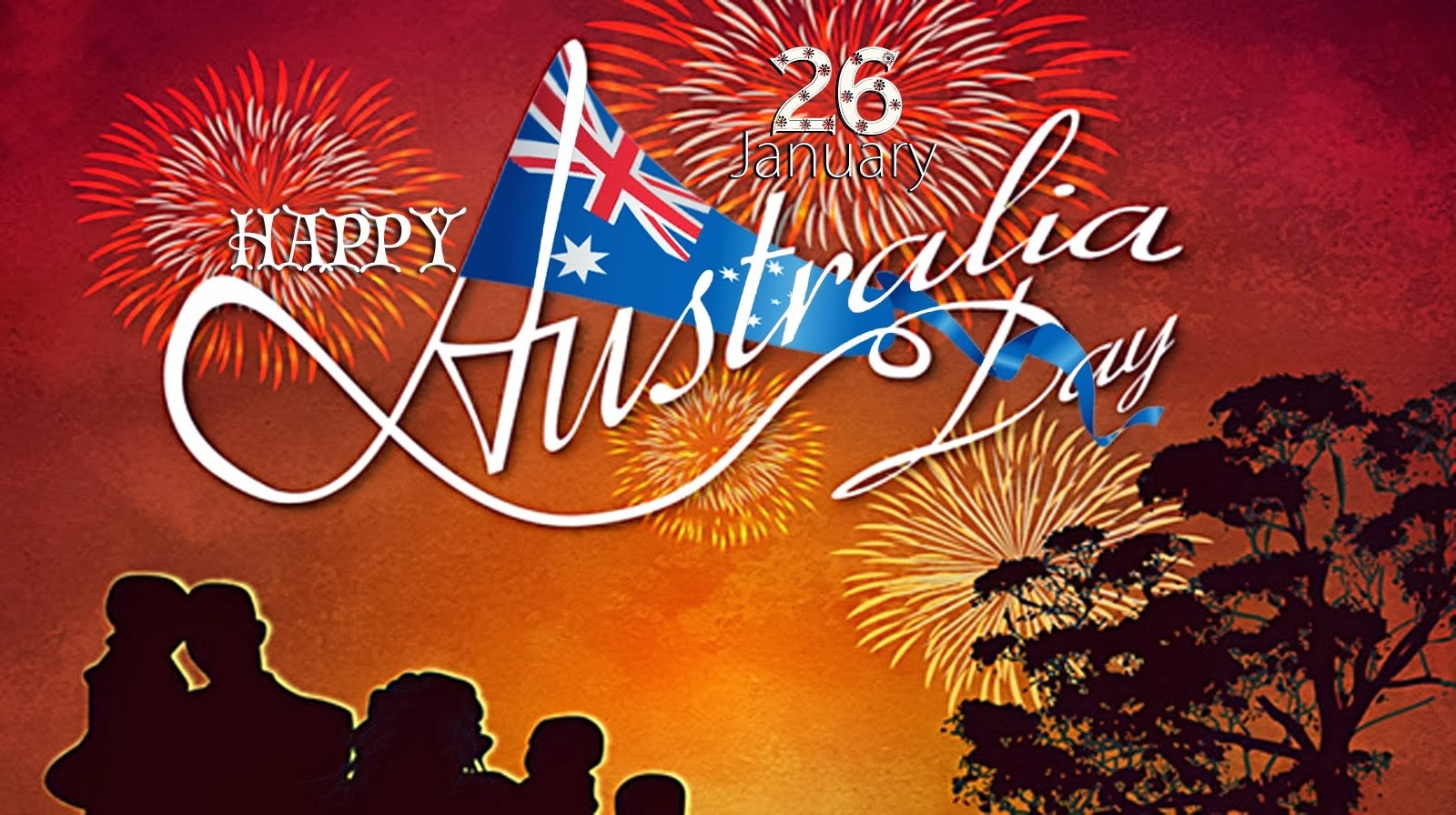 Happy Australia Day Wishes Message with Greeting Cards 1600x896