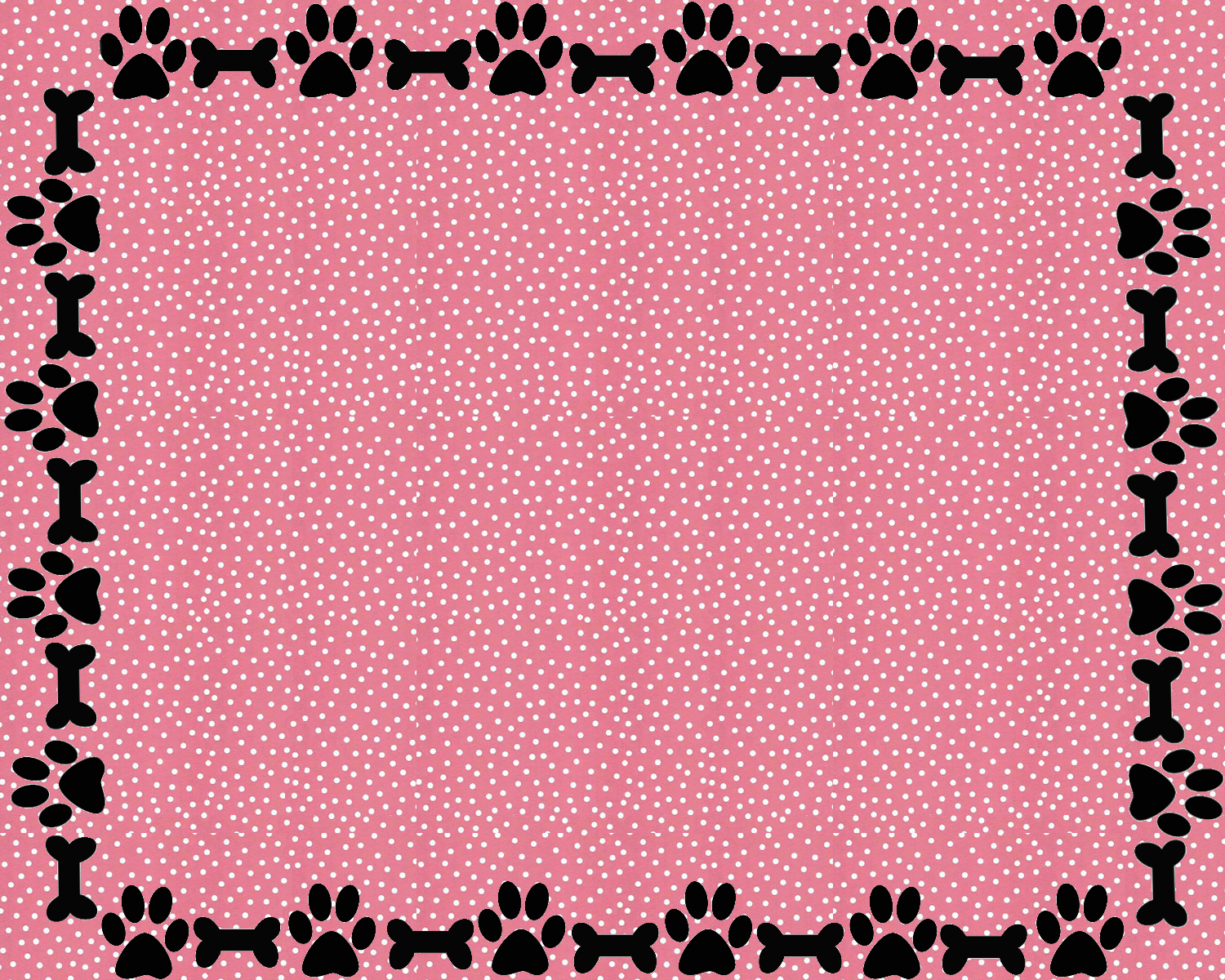 border for a2 card paw print blanket paw print blanket cheetah borders 1500x1200