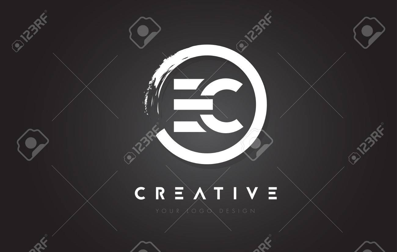 EC Circular Letter Logo With Circle Brush Design And Black 1300x825