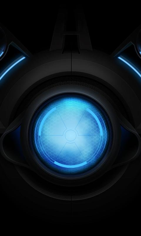 Blue Droid Cell Phone Galaxy Wallpapers Wallpapers Backgrounds 480x800