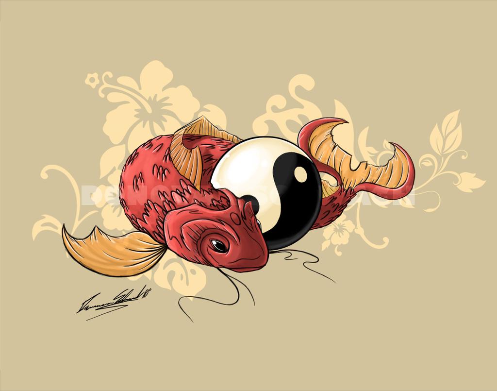 Free Download Koi Fish Art Wallpaper Koi Fish By Duaxer