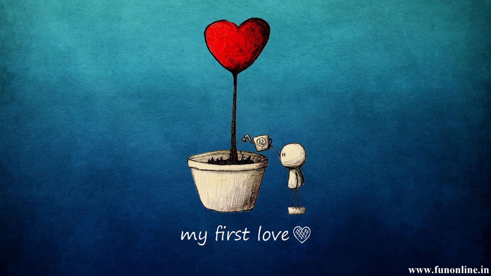 My First Cute Love Wallpaper 1600x899