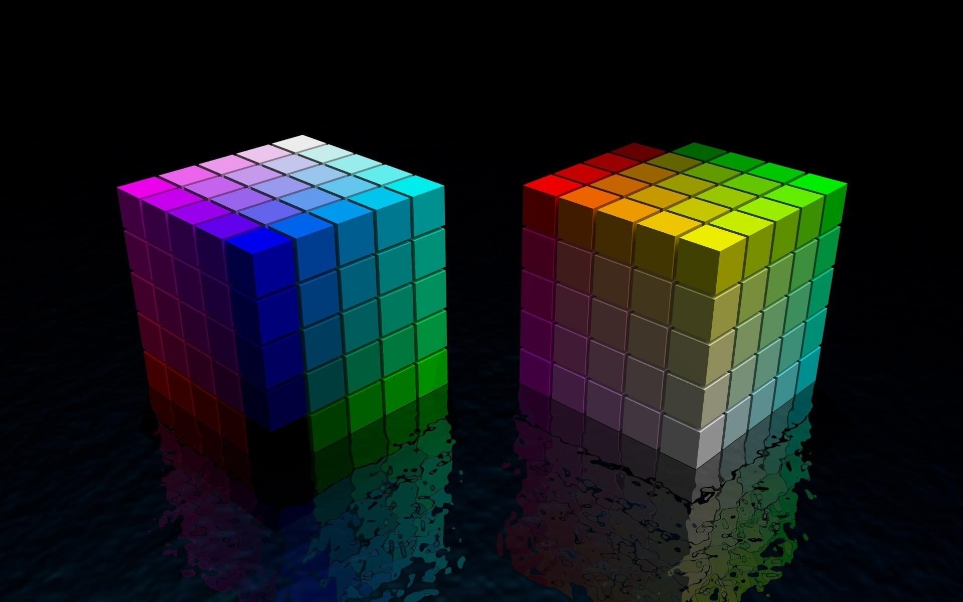 fond ecran abstrait cube couleur wallpaper colorful cube hd 1920x1200
