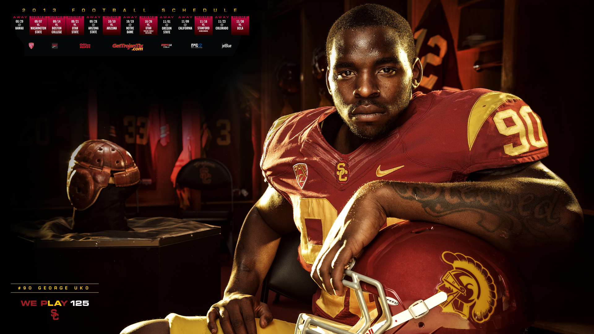 Usc Trojans Football Wallpaper 2013 football schedule poster 1920x1080
