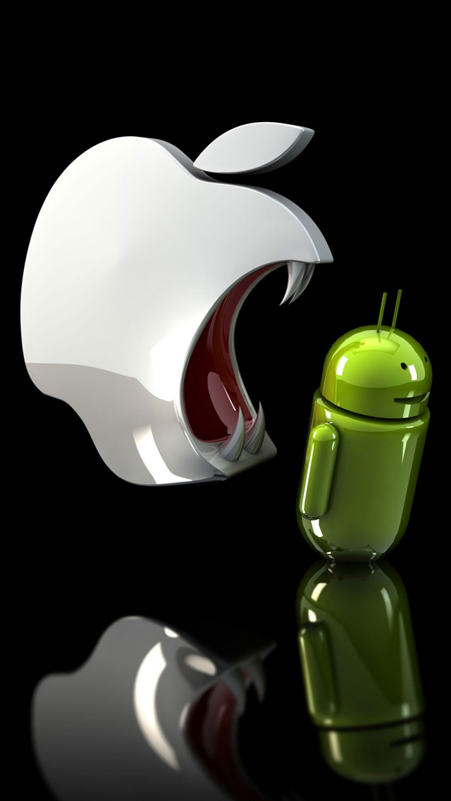 Apple vs Android Wallpaper   iPhone Wallpapers 640x1136