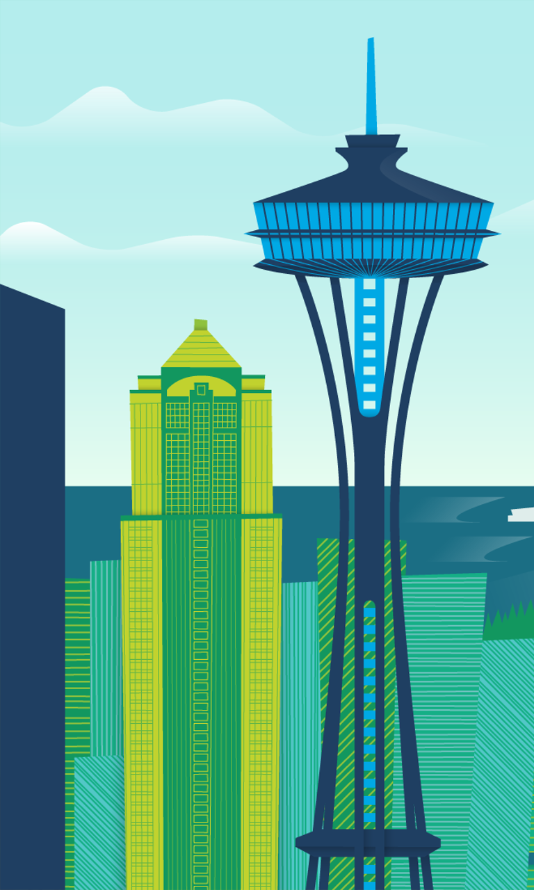 Seattle1 Microsoft W: [49+] Space Needle Windows 8 Wallpaper On WallpaperSafari