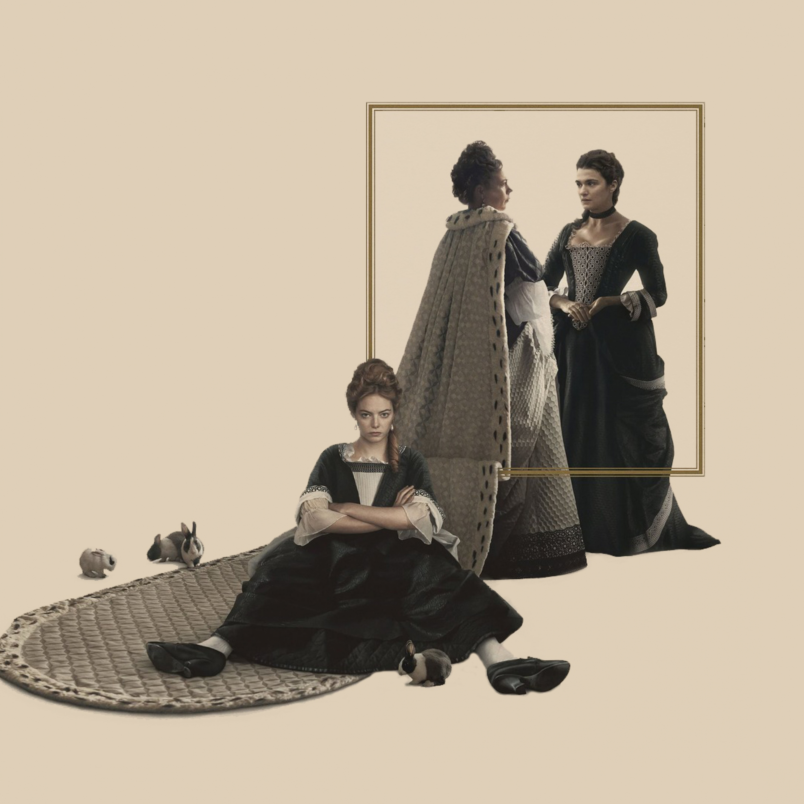 Download The Favourite 2018 Movie Poster Apple iPad Air wallpaper 2780x2780