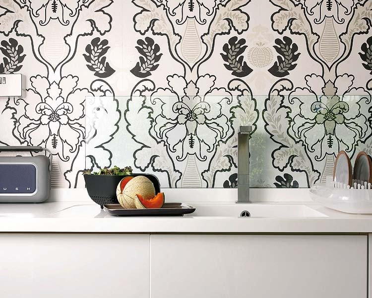 ve Been Meaning To Do This For Years   Wallpaper and Glass Backsplash 750x600