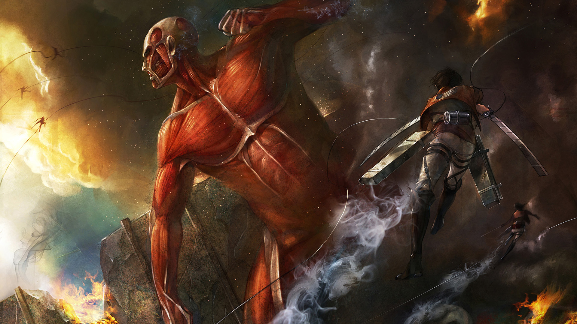 49 Attack On Titan Wallpapers On Wallpapersafari