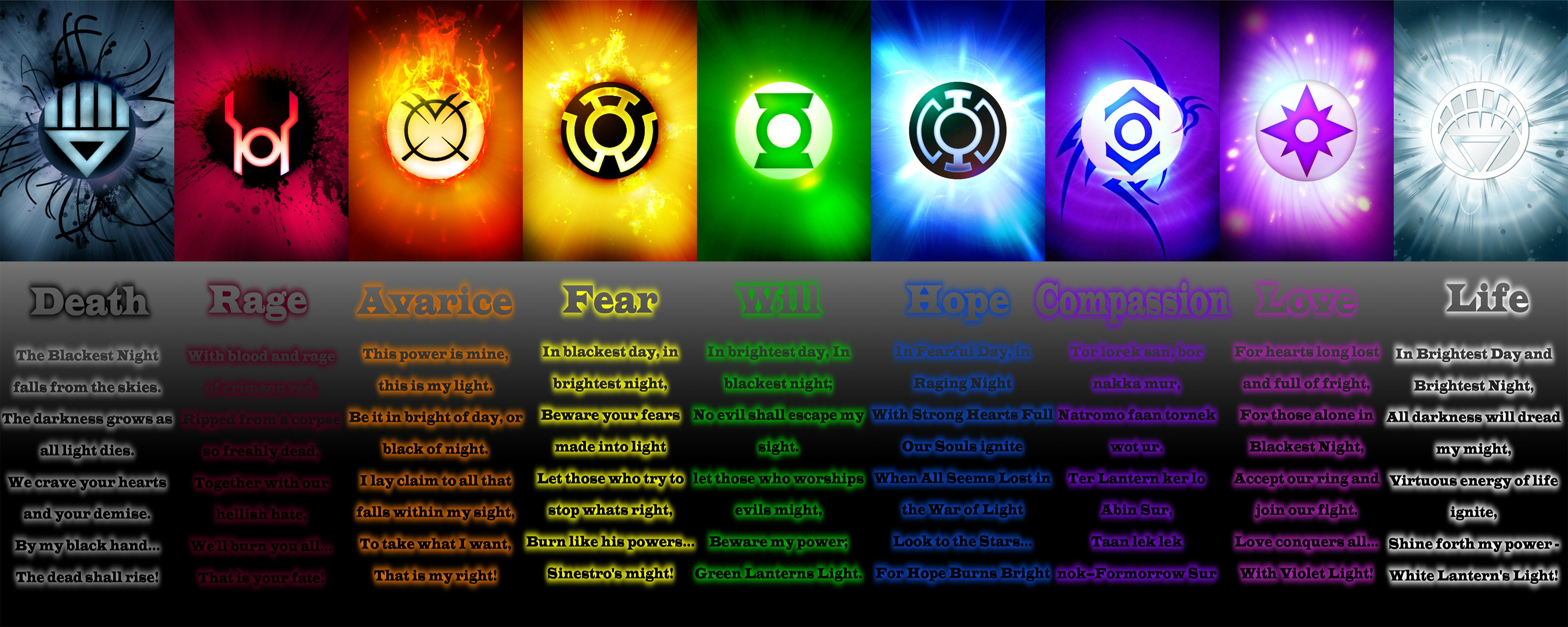 All 9 Lantern Corps Oaths HD Walls Find Wallpapers 4319x1727