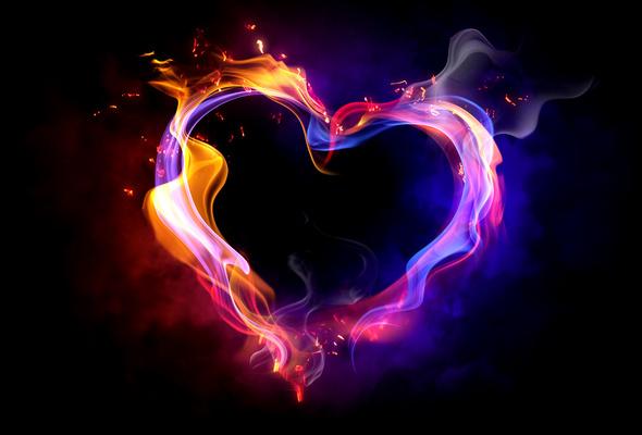 Wallpaper heart fire love smoke desktop wallpaper 3D GoodWP 590x400