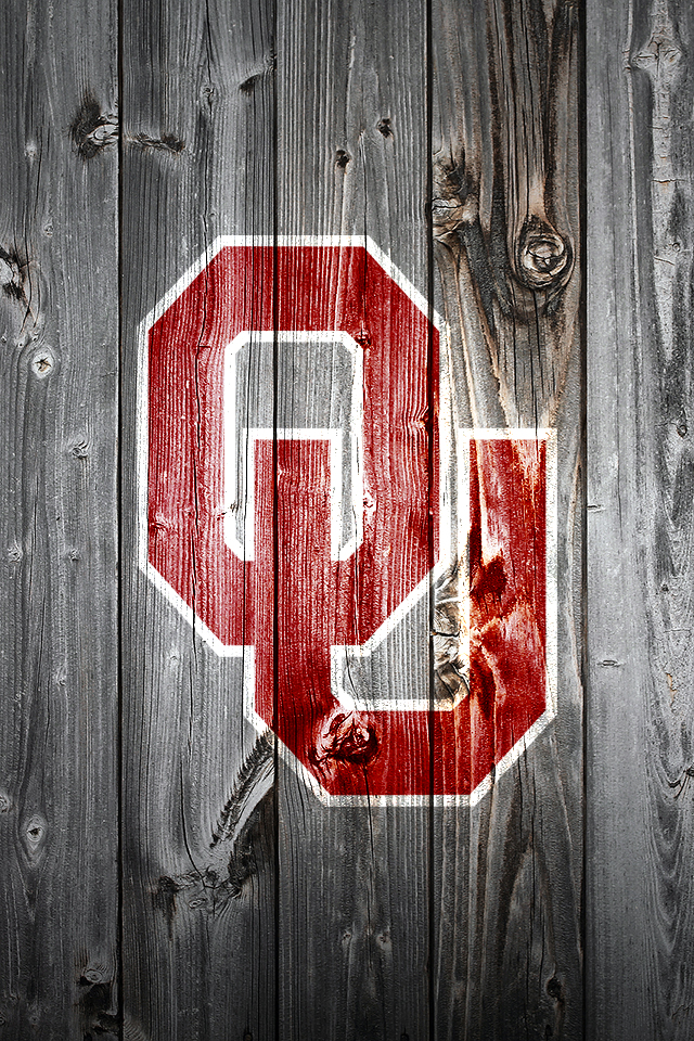 iPhone Wallpaper OU on Wood From the Kings Pen 640x960