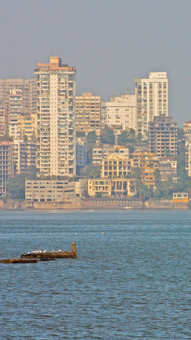 Mumbai Skyline India iPhone 5 wallpapers backgrounds 640 x 1136 640x1136