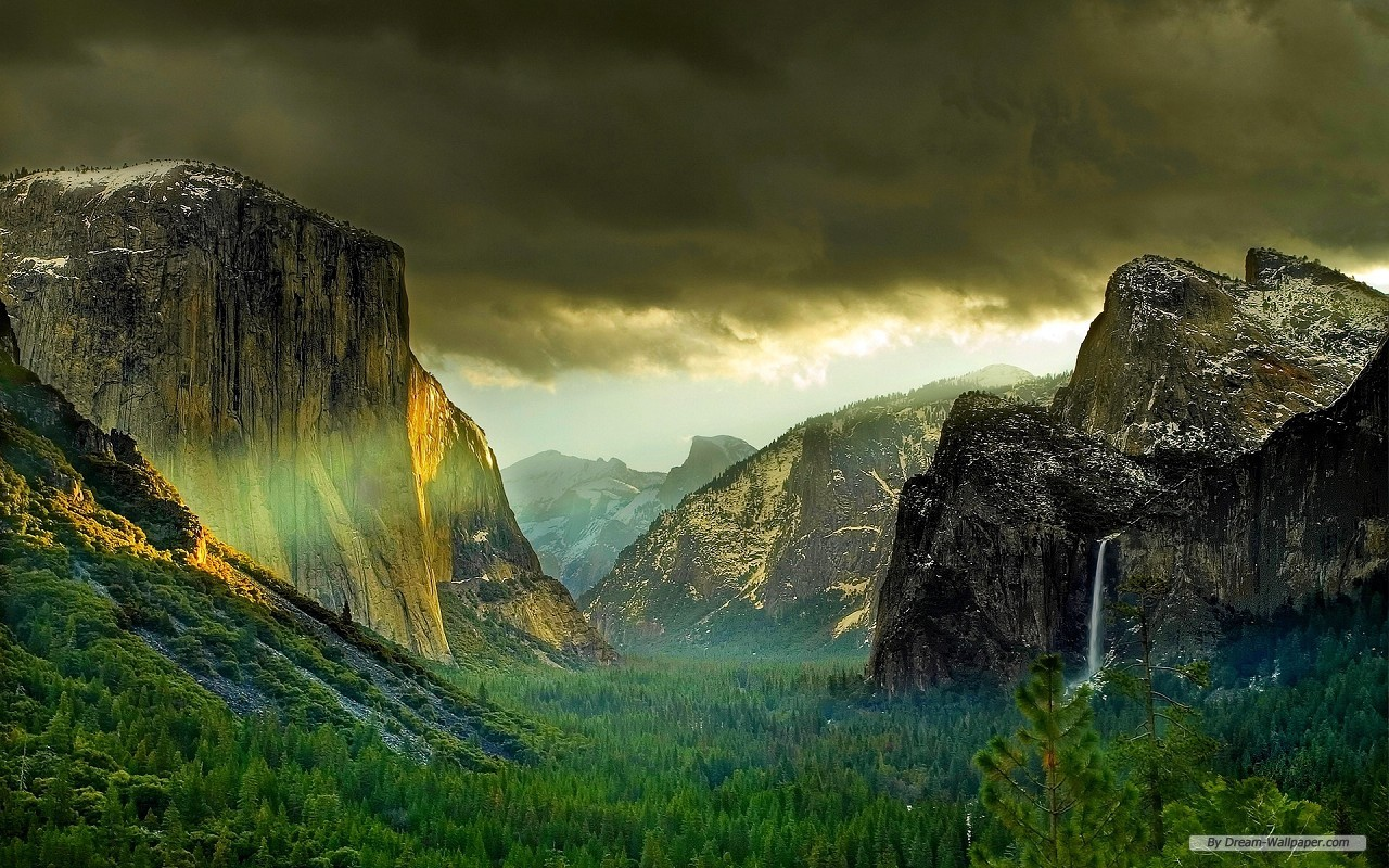 Wallpaper   Travel wallpaper   Yosemite National Park 1280x800