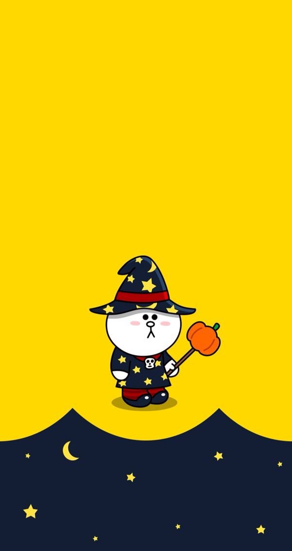 Halloween cony Line character Pinterest Halloween 602x1136