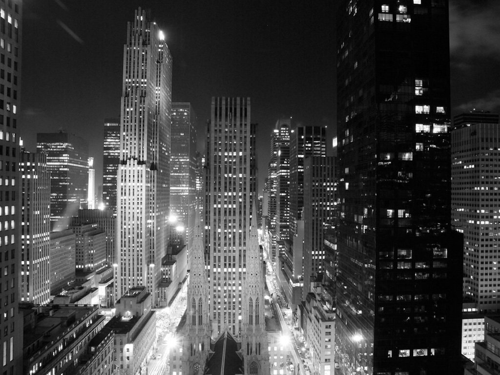 Black And White New York Wallpaper   Widescreen HD Wallpapers 1024x768